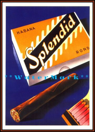 Splendid Cigar Habana 1930 Vintage Poster Print Retro Style Swiss Tobacco Art