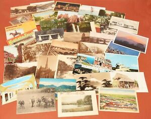 Lot-of-36-Vintage-Postcards-USA-amp-Foreign-Several-Early-20th-Century