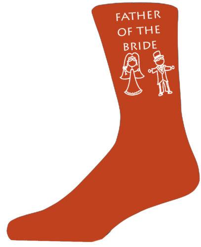 Orange riche coton luxe mariée et marié figure mariage chaussettes best man groom
