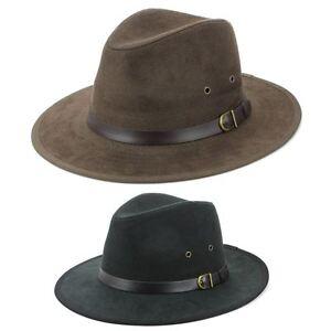 9e89316fca7 Fedora Hat BLACK BROWN Hawkins Trilby Panama Mens Ladies Travel Sun ...