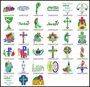 33-Church-Files-Embroidery-Digitized-Designs-Machines