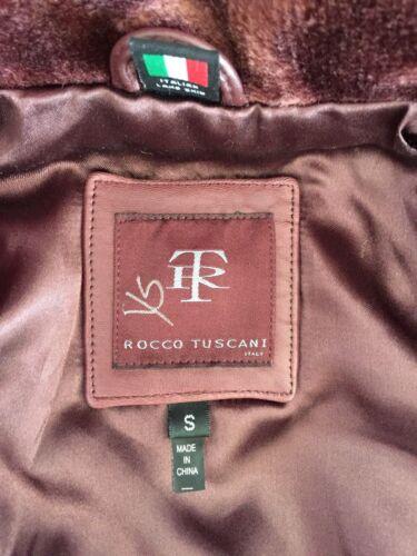 Véritable Cuir Rocco Womens Marron En Veste Nwot Italien Sz S Tuscani qWxanRWwCB