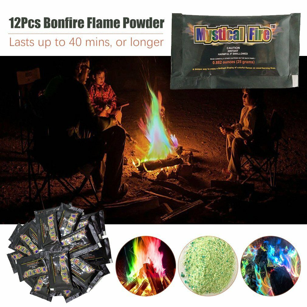 48X Flames MYSTICAL FIRE Magical Fire Colourful Farbe changing Flames 48X Campfire Fun 4H 092c6d