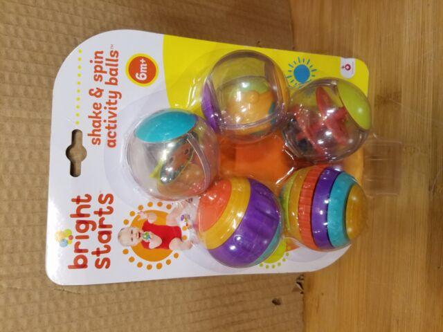 New Item   Bx Bright Starts Shake /& Spin Activity Balls Toy Polypropylene 9079