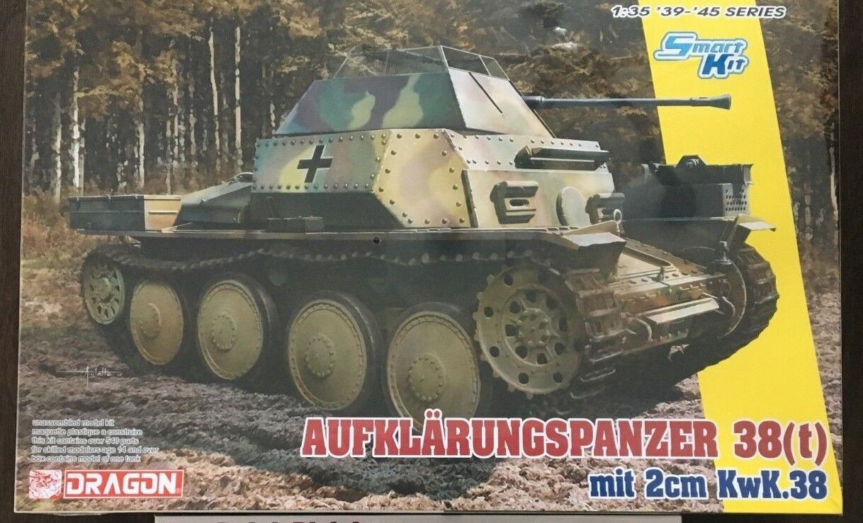 1 35 German Aufklarungspanzer 38(t) mit 2cm Kw.K.38  Dragon