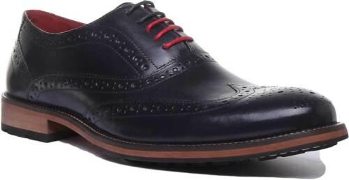 Justin Reece England Oliver Mens Shoes Leather Matt In Dark Blue Size UK 6-12
