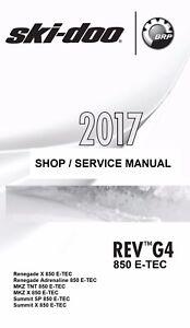 2017 ski doo g4 850 e tec renegade mkz summit snowmobile service rh ebay com ski doo service manual download ski doo service manual pdf