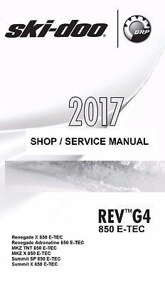 OEM 2017 Ski-Doo Summit SP 850 E-Tec G4 Owners Service Repair Manual CD