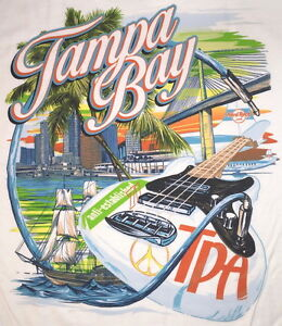 Hard-Rock-Cafe-TAMPA-BAY-AIRPORT-City-Tee-T-SHIRT-3X-XXXL-Mens-White-New-Tag-TPA