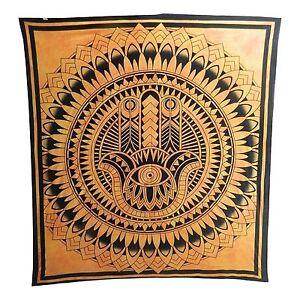 Couverture-indienne-Tenture-Main-de-Fatma-orange-230x210