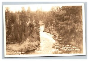 Vintage Early 1900's RPPC Postcard Deschutes River Benham Falls Oregon UNPOSTED