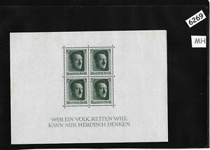MH-sheet-with-a-MNH-stamp-BLOCK-Adolph-Hitler-1937-Birthday-Third-Reich