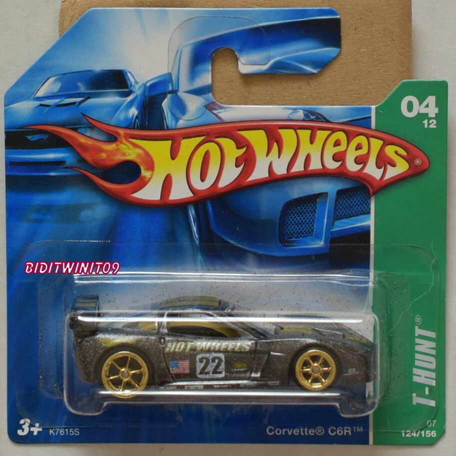 HOT WHEELS 2007 SUPER TREASURE HUNT CORVETTE C6R SHORT CARD W+
