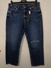 BNWT LADIES M/&S CLASSIC RANGE MEDIUM BLUE STRAIGHT LEG JEANS SIZE 20 SHORT