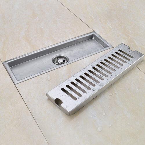 Stainless Steel Bathroom Floor Drain Linear Long Shower Waste Drainer Grate