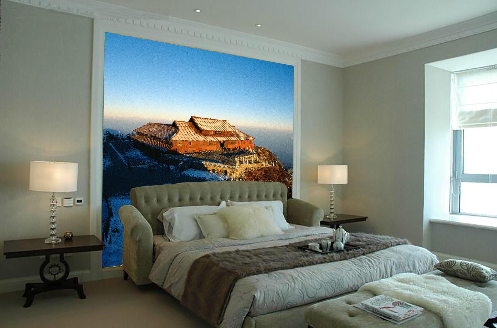 3D Alpiner Tempel 784 Tapete Wandgemälde Tapete Tapeten Bild Familie DE Summer | Tadellos  | Lebendige Form  | Attraktive Mode