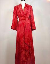 Vintage 1940s Freny Paris Damask Satin Dressing Gown Robe Lingerie Greta Garbo