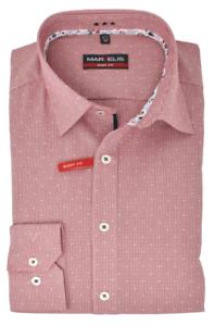 Marvelis Body Fit Hemd New Kent Kragen mit Besatz bügelleicht Vichykaro Rot