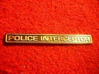 Ford Crown Victoria Mustang Police Interceptor Trunk Decklid Dash Block Emblem