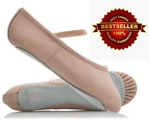 WESTPOLE-Pink-Ballet-Shoes-Child-and-Adult-Sizes-Full-leather-Sole-pointe-shoe