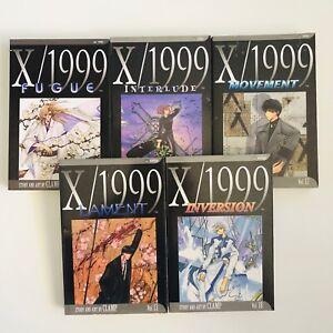 CLAMP-VIZ-Shojo-Manga-X-1999-Volumes-10-11-12-13-18-Set-Graphic-Novel-English