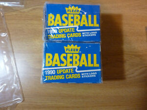 2-1990-FLEER-UPDATE-BASEBALL-SETS-132-CARDS-amp-22-LOGO-STICKERS-FACTORY-SEALED