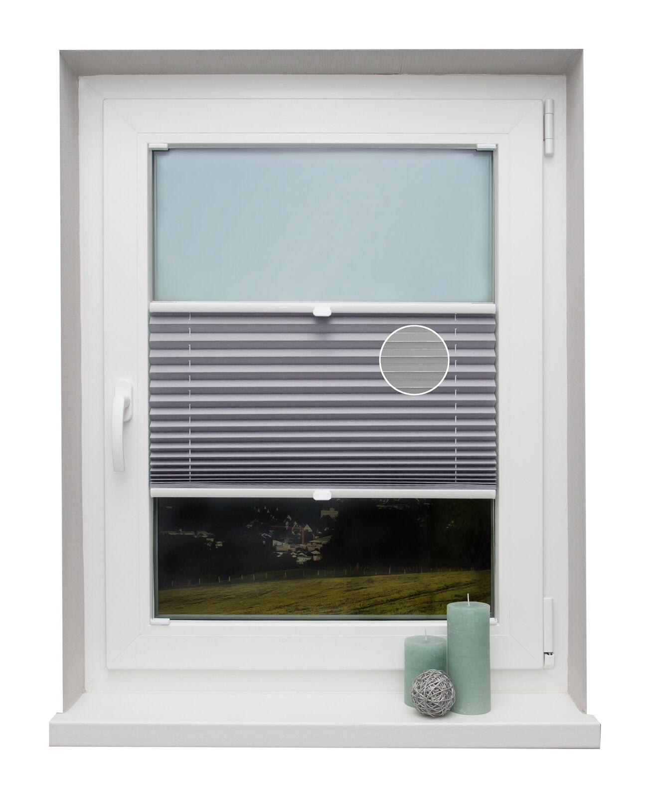 Thermo-Plissee auf Maß Flieder für alle Fenster Montage in der Glasleiste | München  | Bestellung willkommen  | Vorzugspreis