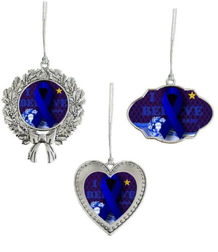 I Believe in Miracles Blue Ribbon Christmas Ornament 2020 Three Designs Availabl