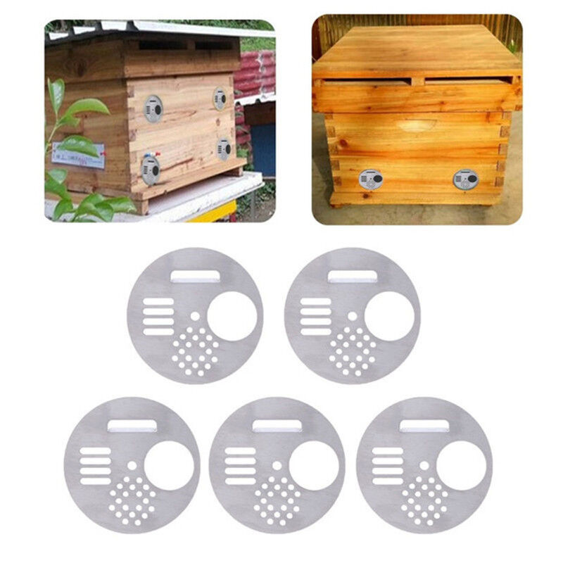 5pcs Beehive Door Bee Keeping House Nest Gate  Beeing Entrance Disc Vent H/_chH.j