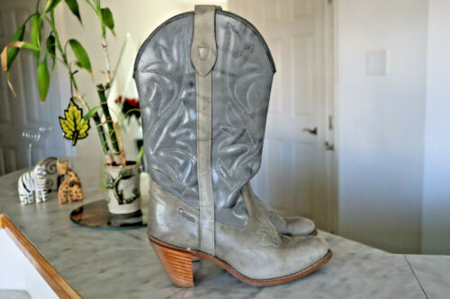 Vintage Capezio Womens Gray Cowboy Boots Size 8.5M