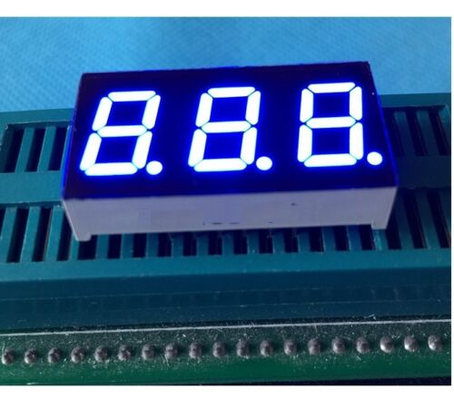 NEW 0.28 inch 3 digit led display 7 seg segment Common anode Blue