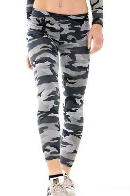 Womens Full Length Printed Leggings Ladies Stretchy Skinny Slim Pants Size 8-26