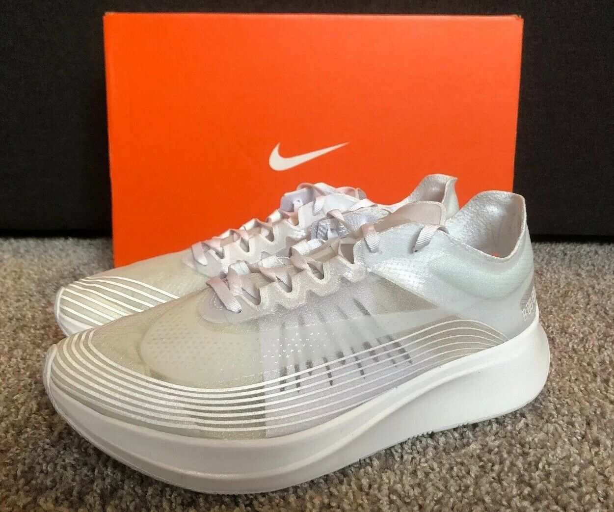 Nike Zoom Fly SP NA Mens Running shoes (BQ7024-100) White White Summit Size 10.5