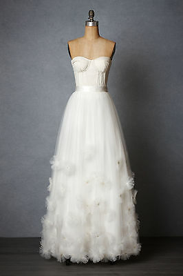 BHLDN Anthropologie Callistemon Ivory Wedding Skirt - Many Sizes - NWOT $1,100