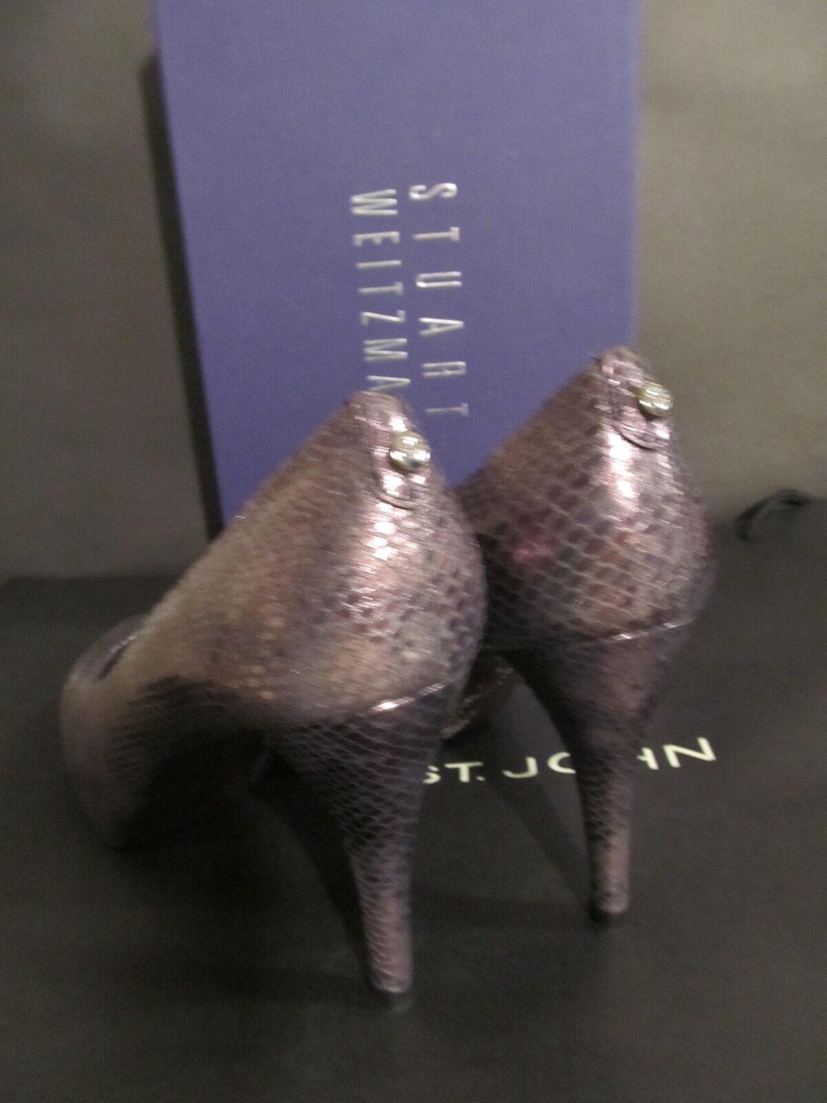 NEW Schuhe STUART WEITZMAN Damenschuhe Schuhe NEW 8.5 BROWN ANIMAL PRINT HEEL 4
