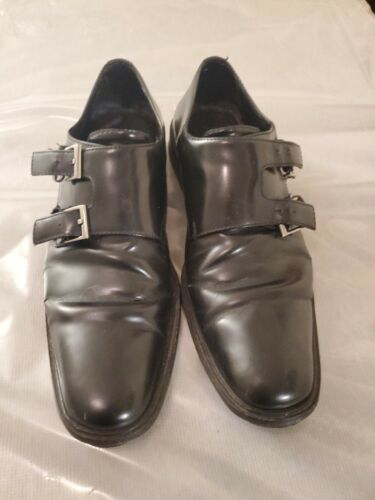 GUCCI Black Leather Double Monk Strap (TOM FORD ER