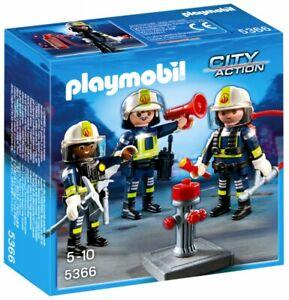 PLAYMOBIL-City-Action-5366-Unite-de-pompiers-NEUF