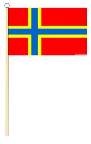 "ORKNEY ISLANDS ISLES 18/"" x 12/"" LARGE HAND WAVING COURTESY FLAG /& POLE SCOTLAND"
