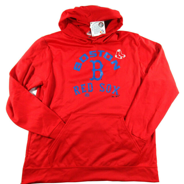 the best attitude 68e4b d27ea Majestic Men's Boston Red Sox Synthetic Lightweight Pullover Hoodie - Size  XL