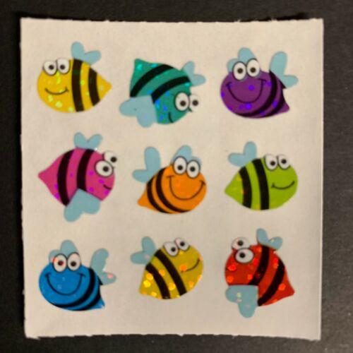 Sandylion Vintage Stickers Fish Beta Koi Gold Seahorse Whale shell crab snail