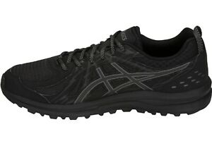 Details about Asics Frequent Trail Mens Black Trainers Neutral Running Shoes Size 1011A034.001