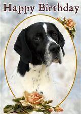 Labrador Retriever Dog Design A6 Textured Birthday Card BDLAB-8-choc paws2print