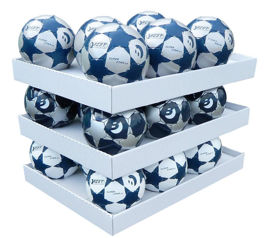 Best Sporting Fußball SUPER STAR 2.0 Trainingsball Ballset Fussball blau silber
