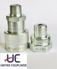 38 High Pressure Hydraulic Quick Disconnect Set Npt 10000 Psi Screw Type