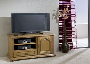 phonoanrichte eiche massiv rustikal braun phonokommode tv. Black Bedroom Furniture Sets. Home Design Ideas