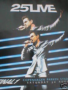 GEORGE-MICHAEL-25live-final1-OFFICIAL-ex-tour-POSTER-X-2-WHAM-rare-ORIGINAL