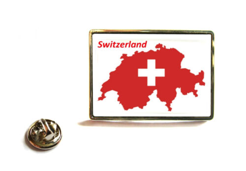 SWITZERLAND SWISS FLAG MAP LAPEL PIN BADGE TIE PIN GIFT