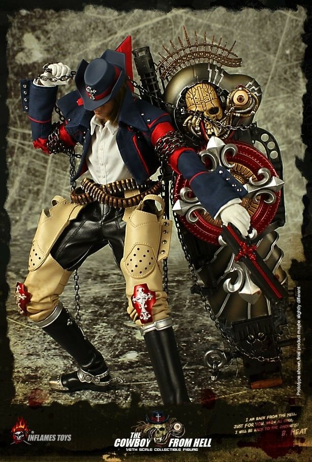 Inflames Toys The Cowboy From Hell 1 6 Figure IN STOCK