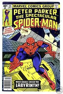 Peter-Parker-The-Spectacular-SPIDER-MAN-35-from-Oct-1979-in-F-VF-condition