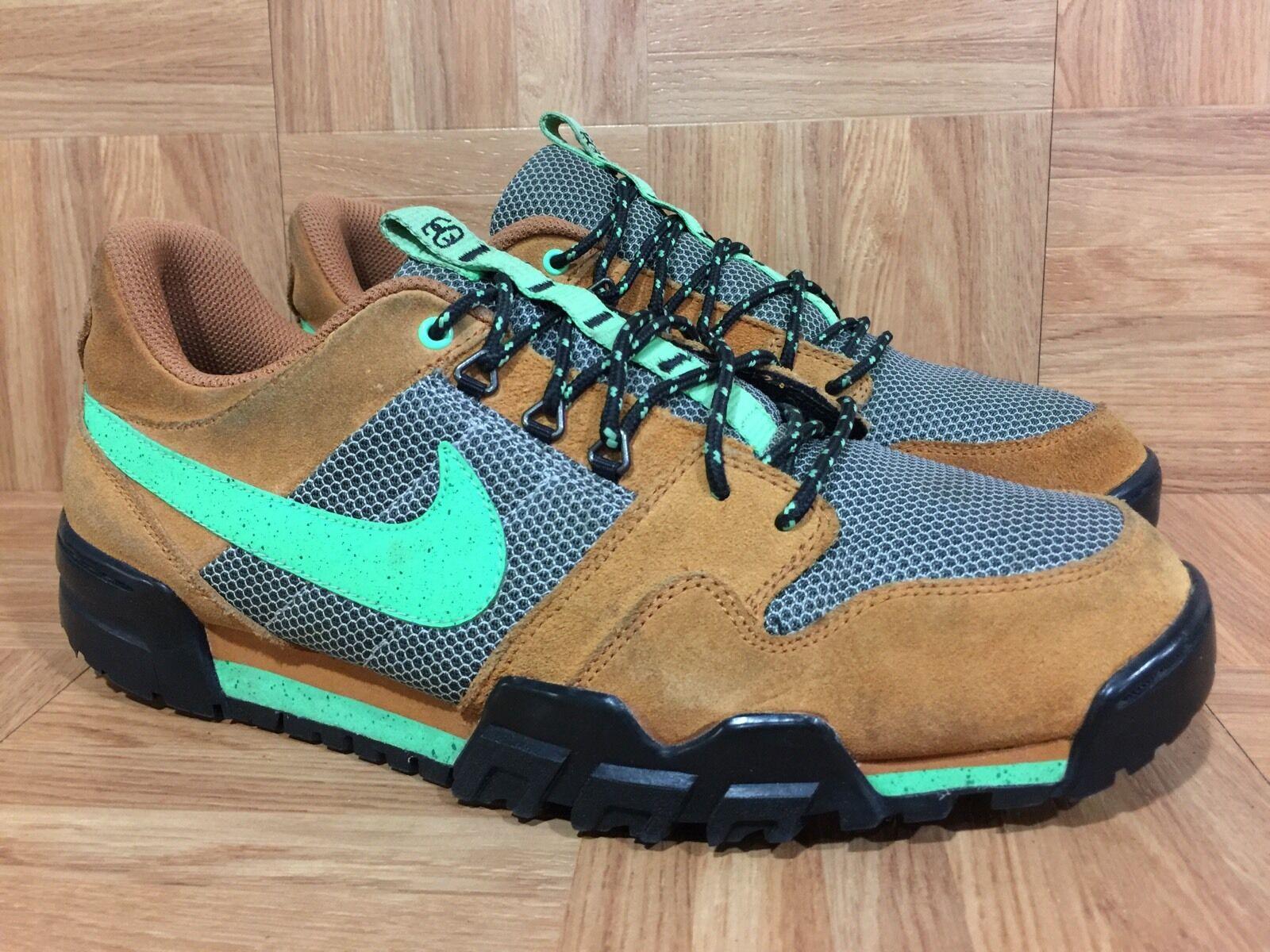 RARE Nike x Stussy Mogan Mogan Mogan 2 OMS Premium Ginger Poison Green Sz 11 576349-205 LE e3d019